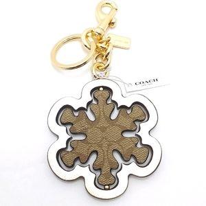 ⭐COACH Logo Spinner Snowflake Bag Charm/Key Chain